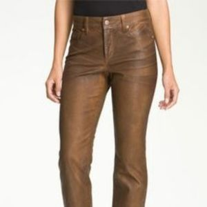 NYDJ Terrahide Brown Sheri Skinny Leg Jeans